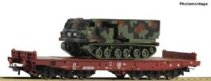 Roco 76954 HO Gauge FS Heavy Duty Flat Wagon w/Armoured Vehicle Load